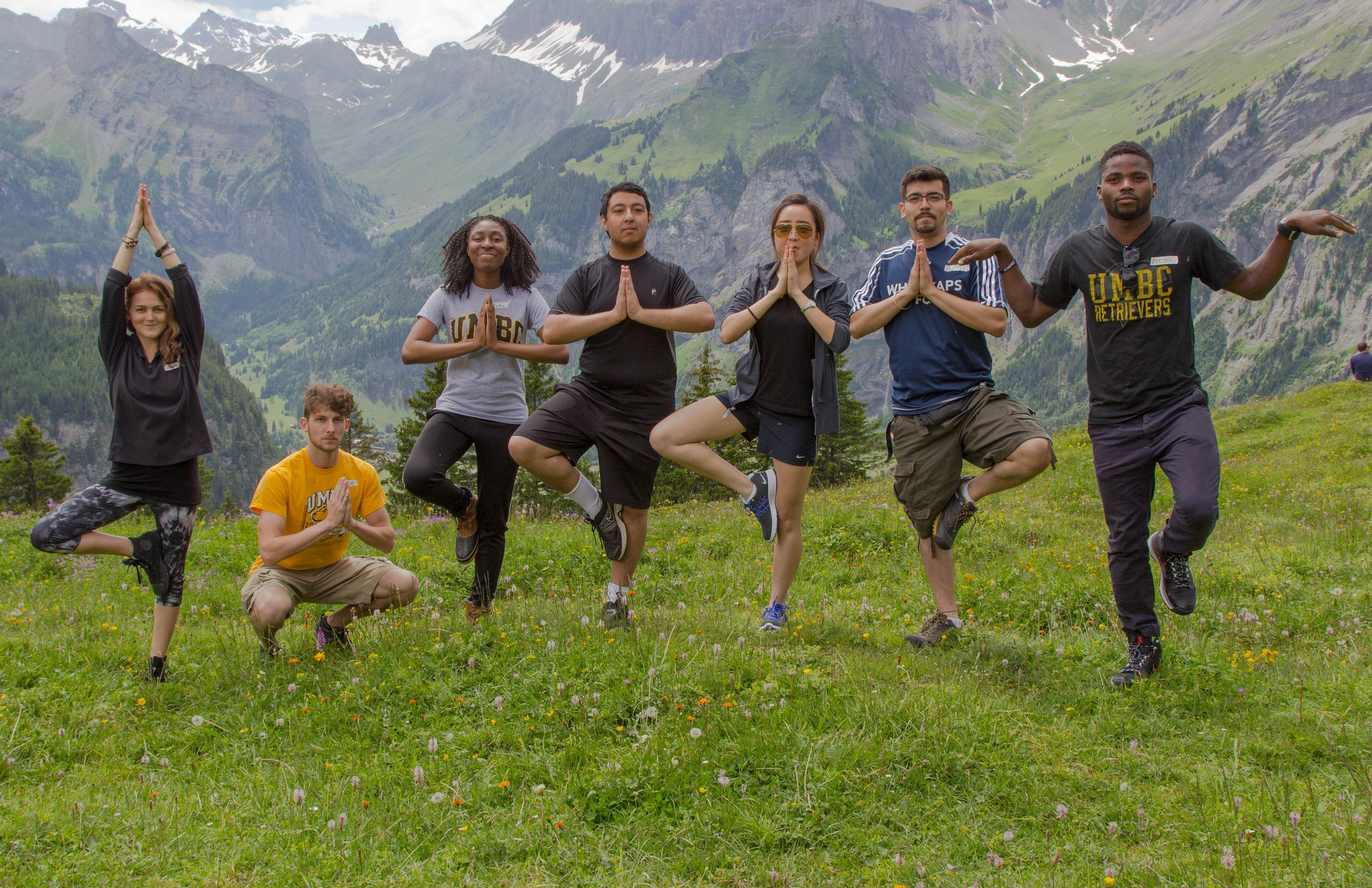 Alpine hiking, physical conditioning, and stress reduction
